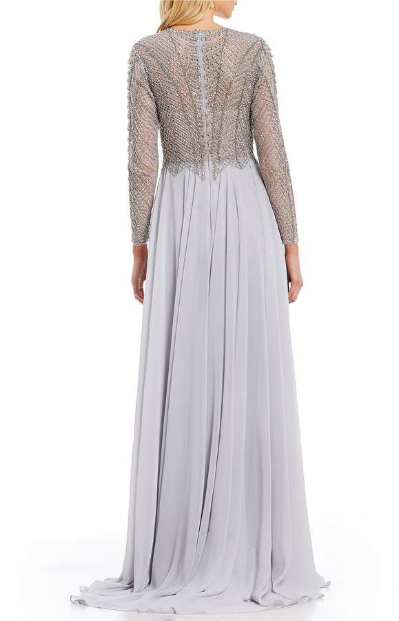 fab499907f5f Terani Couture Long Sleeve Beaded Bodice Ball Gown #Long#Sleeve#Terani