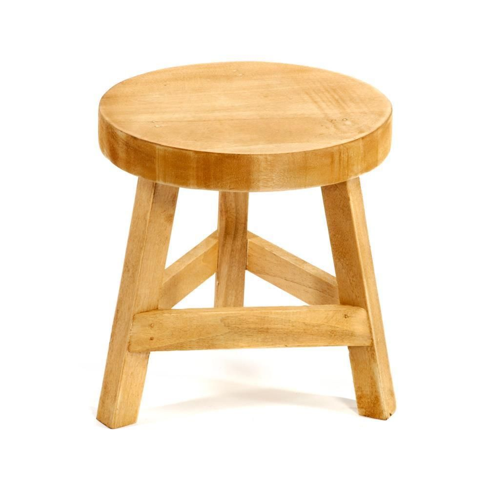 Admirable Wooden 3 Three Legged Legs Vintage Antique Style Stool Pine Uwap Interior Chair Design Uwaporg