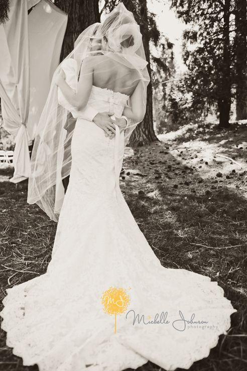 Sexy black and white veil shot