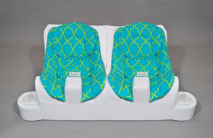 Products Twin Baby Feeding System Table for Two (With