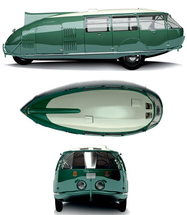 Certainly quirky, like many of Bucky's ideas. but very inventive - The Dymaxion car was a concept car designed by U.S. inventor and architect Buckminster Fuller in 1933.