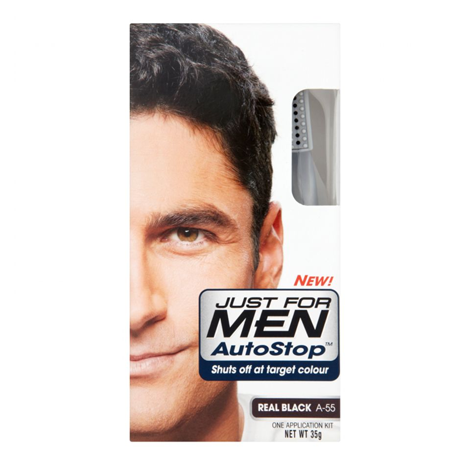 Just For Men Auto Stop Black - https://www.transfashions.com/en/beauty-health/hair-care/hair-colors/just-for-men.html Just For Men Auto Stop Black #haircolor is the perfect way to get rid of gray hair.   Just For Men Auto Stop Black