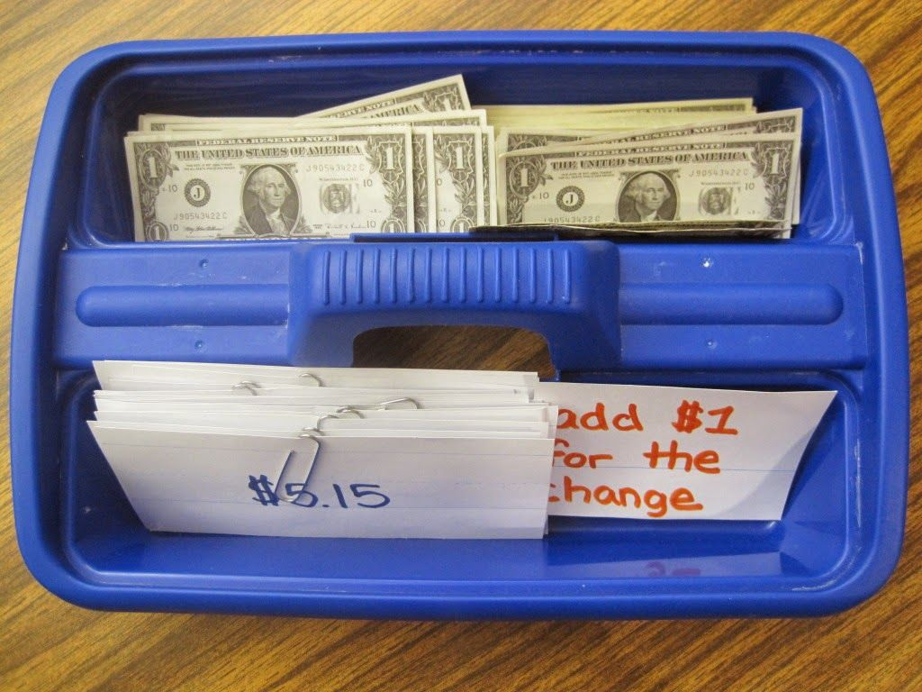Next Dollar Up work box is part of Life skills classroom, Teaching special education, Teaching life skills, Life skills special education, Life skills lessons, Life skills curriculum - If you teach special education you should be familiar with the  next dollar  method, or  dollar over  strategy  If not, well you should  ) Basically, the student looks at the number before the decimal point, counts out those dollars and then adds one more dollar for the change  Here is a work box that I use with my students for independent practice with the dollar over strategy (I got this wonderful idea from my mentor teacher!)  All the materials needed are in this box  (index cards with dollar amounts, paper clips, prompt, and dollars) So the student takes the card and counts the amount of dollars and  adds one for the change   Then the student slides all the dollars under the paper clip on the index card so that I can check them when they are done! Looking for more next dollar resources  Check out these Next Dollar Up task cards and these Next Dollar worksheets