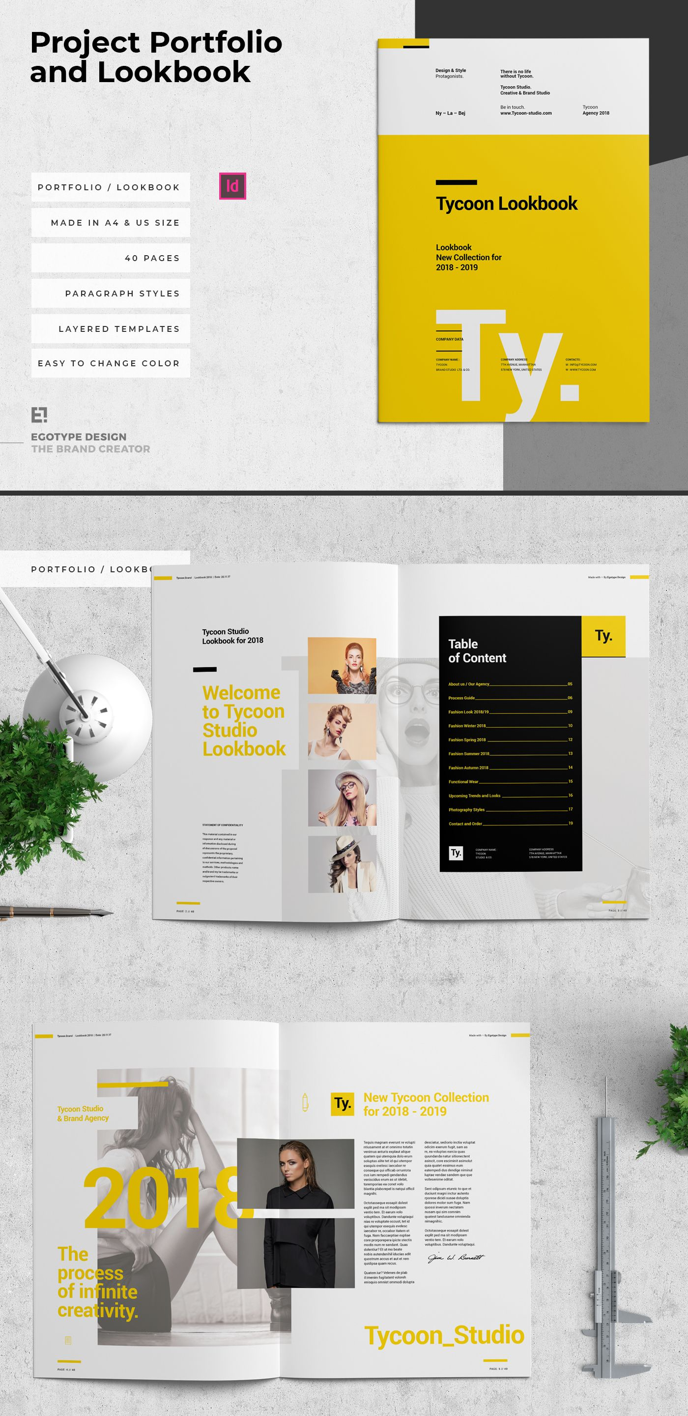 Project And Design Lookbook Templateminimal And Professional Work