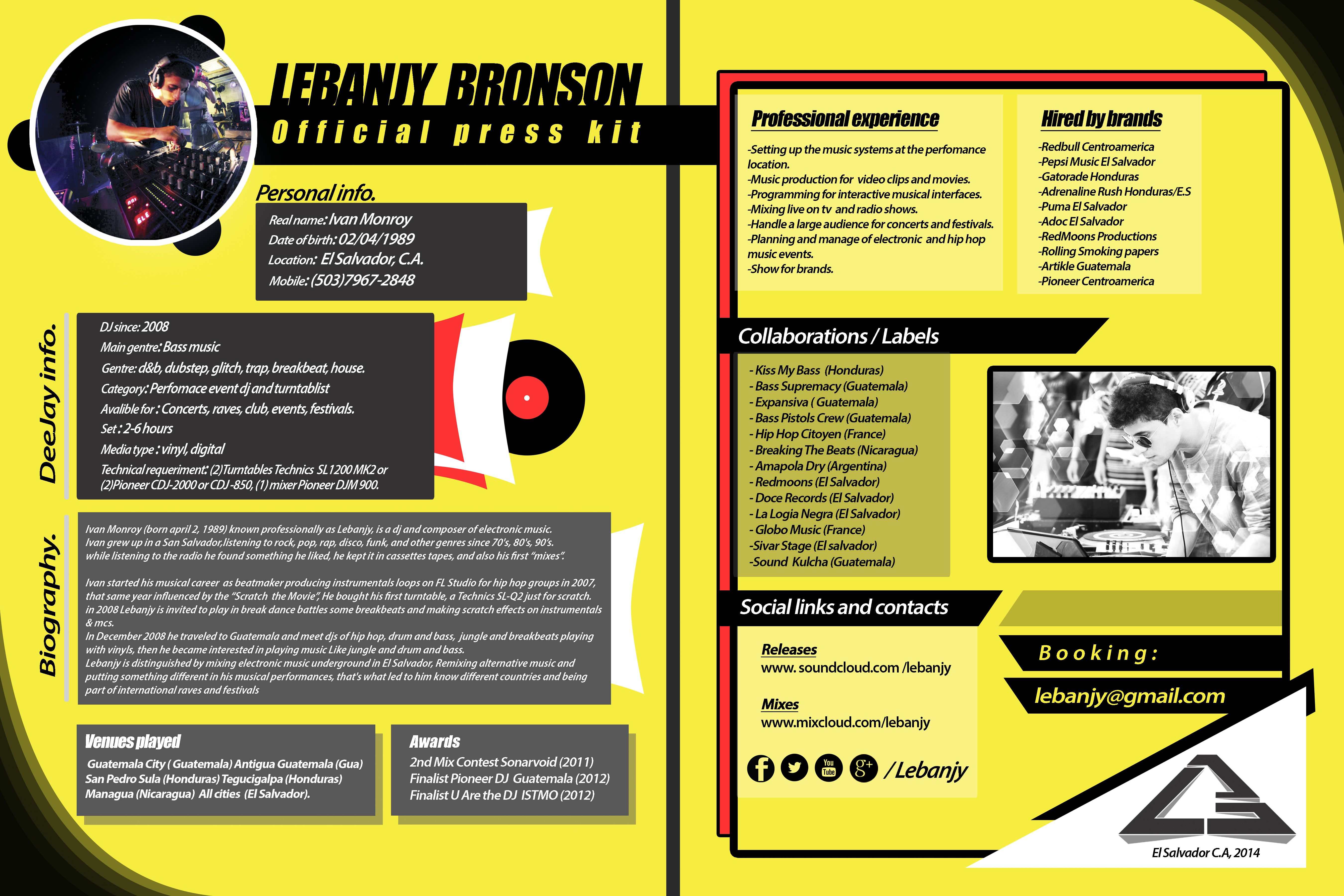 Press kit dj extended press kit dj pinterest press kits for Press packet template