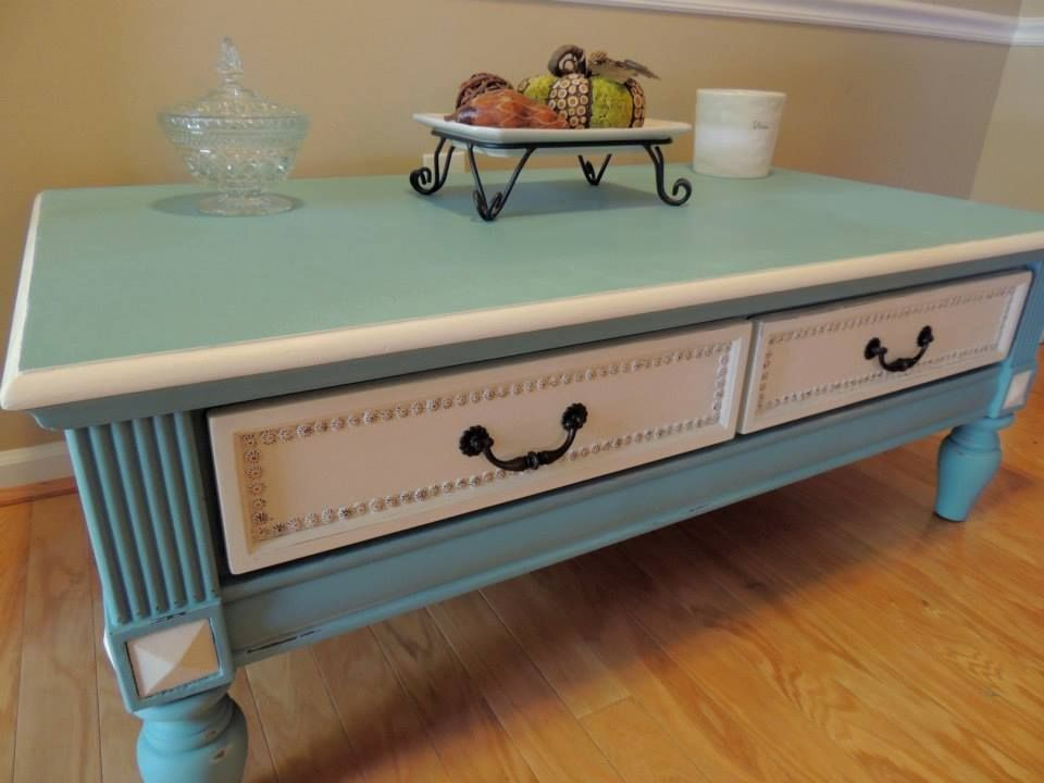 For Sale Is A Rectangular Coffee Table Painted With Annie Sloan