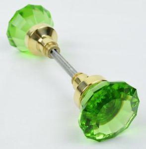 glass door knobs | Vintage Victorian Antique Type Solid Green Glass ...