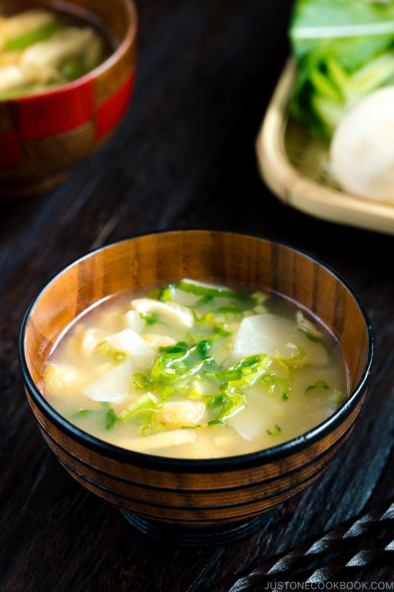 Make a bowl of piping hot Vegetable Miso Soup that brings you comfort and deliciousness! #miso #misosoup #JapaneseFood | Easy Japanese Recipes at JustOneCookbook.com