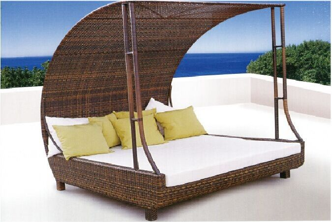 Rattan Outdoor Pool Sofa Bed With Canopy Find Complete Details