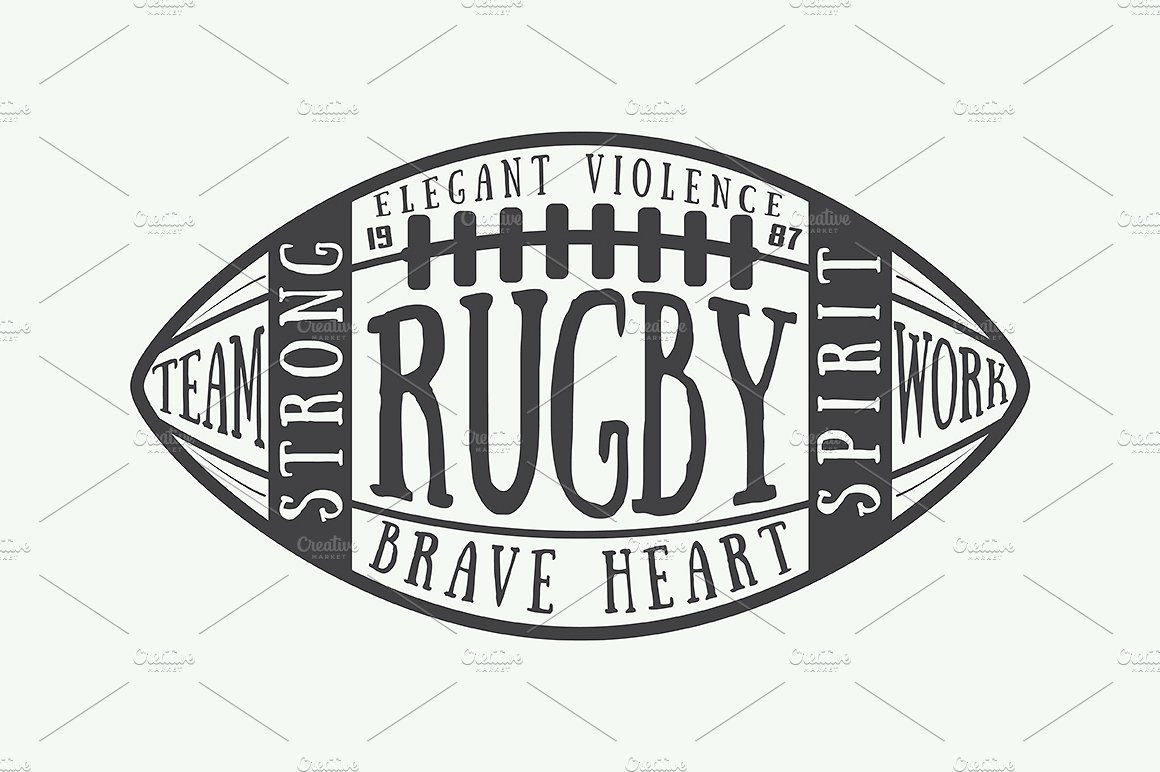American Football And Rugby Emblems Rugby Logo American Football Rugby Poster