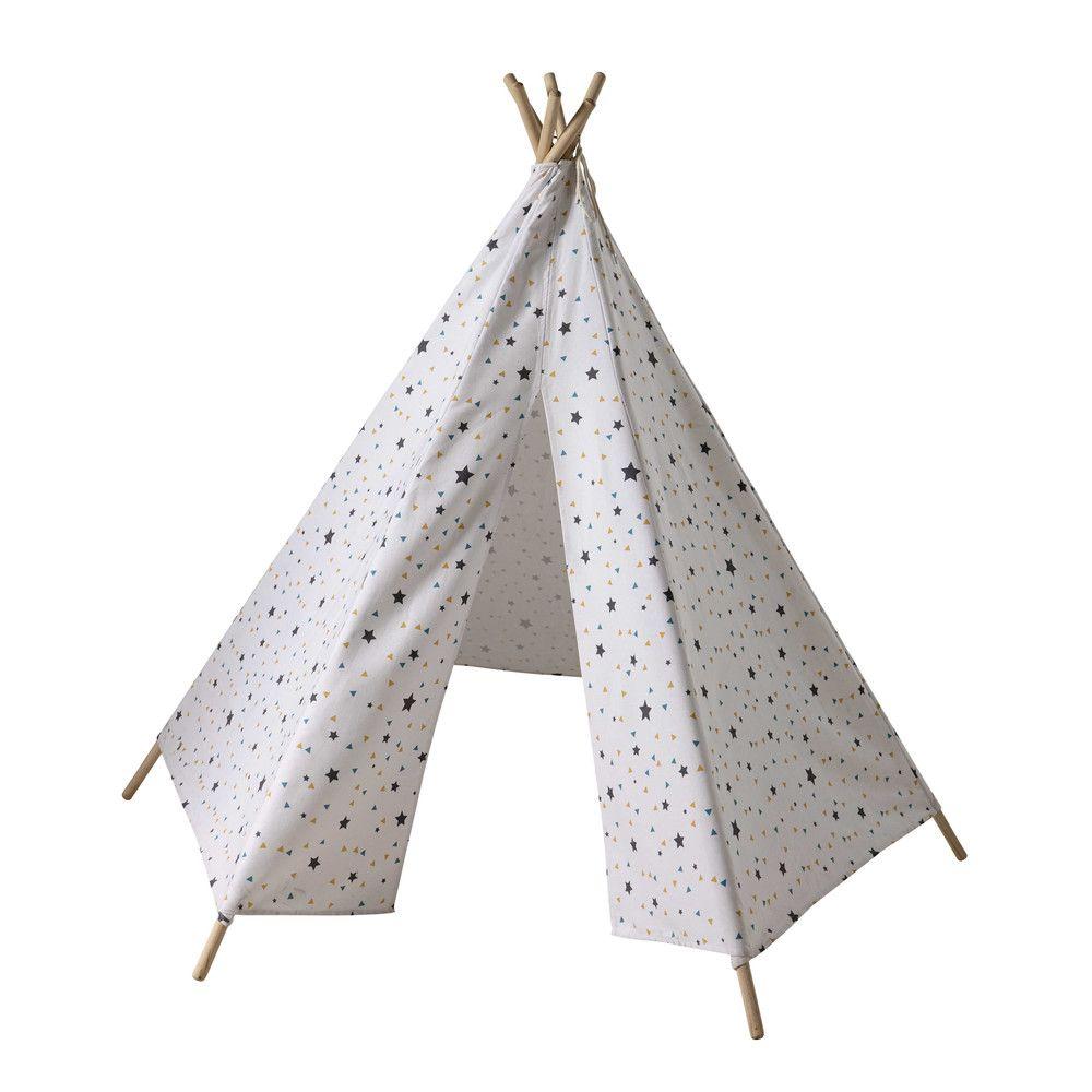 Tente Chambre Garcon destiné tipi enfant motifs triangles et étoiles h 145 cm graphikids
