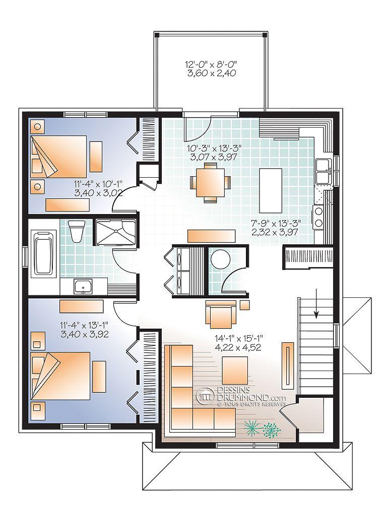 Zen Contemporain Duplex Triplex W3045 Maison Laprise Maisons Pre Usinees Modular Home Floor Plans Container House Plans House Plans