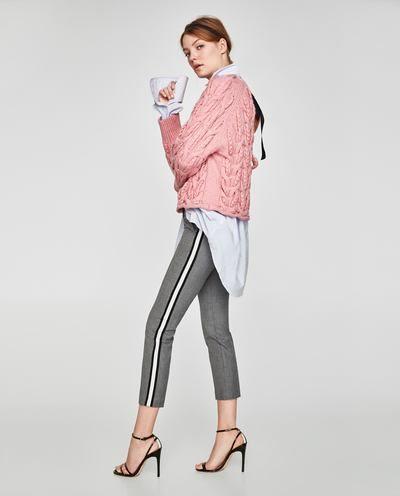Bild 6 Von Hose Mit Seitlichem Streifen Von Zara Side Stripe Trousers Trousers Women Zara Trousers