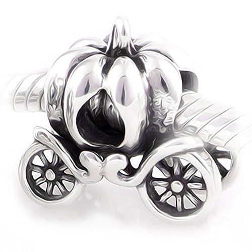Pumpkin Royal Carriage Charm Bracelet Bead - Sterling Silver 925 - Gift boxed WxSOYU