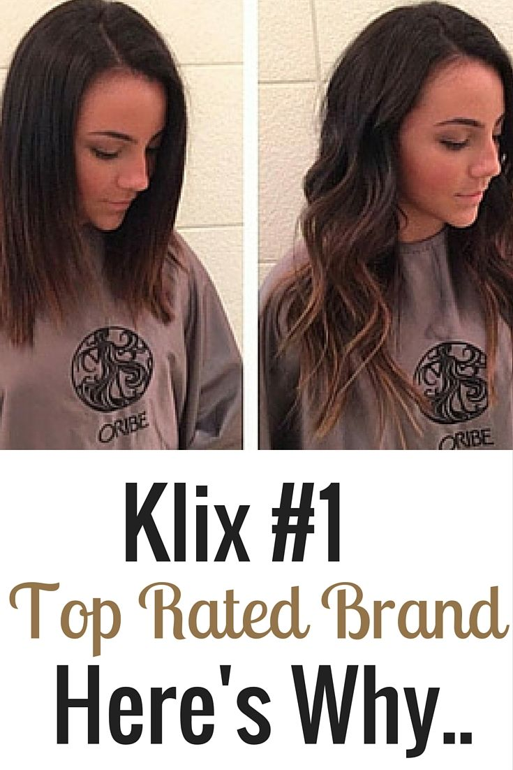 Klix is rated the  hair extension brand on Hair Extension Magazine
