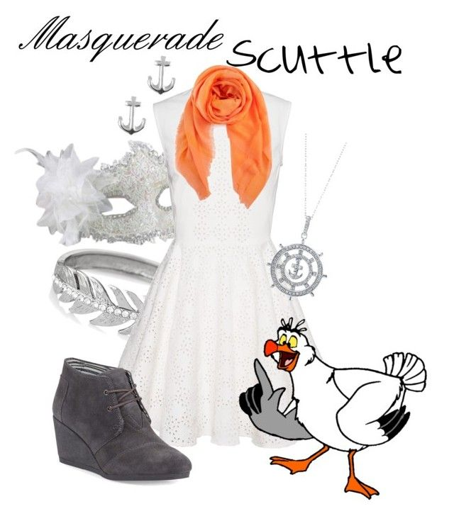 """""""Masquerade: Scuttle"""" by jivy44 ❤ liked on Polyvore featuring Masquerade, The Limited, Chan Luu, BERRICLE, Jewel Exclusive and TOMS"""
