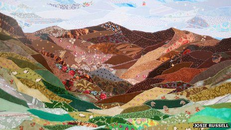 An example of Josie Russell's textile art