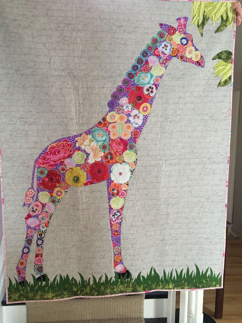 Giraffe collage quilt | London Modern Quilt Guild Canada | Animal ...