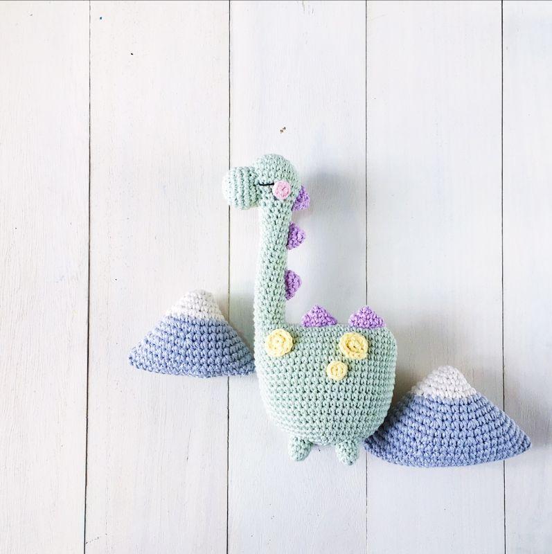 Tezuka The Daydreamer Dinosaur Amigurumi Pattern | knit | Pinterest ...