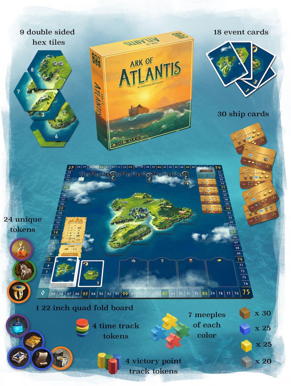 Board Games 2020.New Board Game Ark Of Atlantis Coming 2020 Newboardgame
