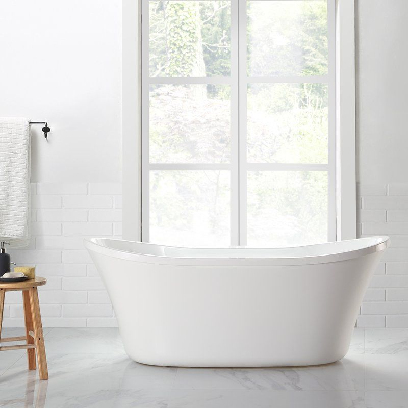 Riley 60 X 29 Freestanding Soaking Bathtub Soaking Bathtubs Free Standing Bath Tub Bathtub