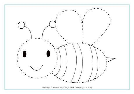Bee Tracing Page Bee Activities Bee Bee Theme