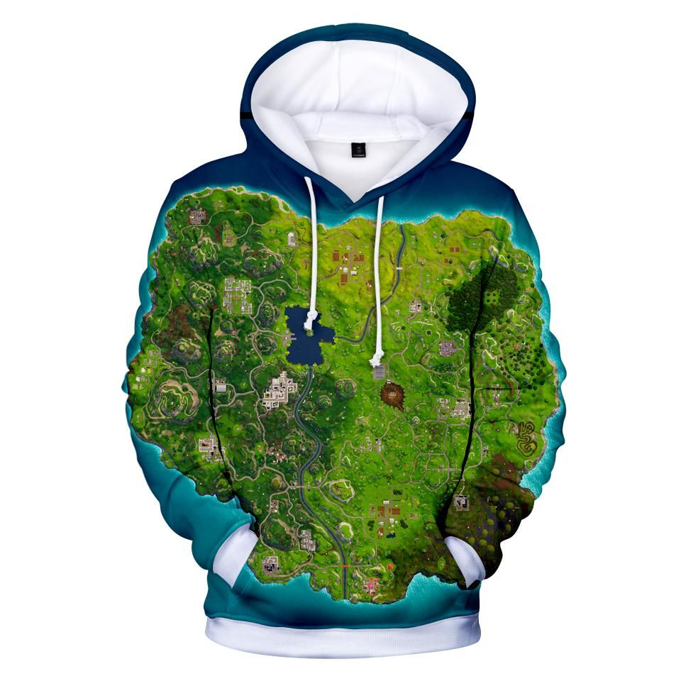d074859ed3ca Fortnite Hoodies - Fortnite Full Combat Map 3D Hoodie ...