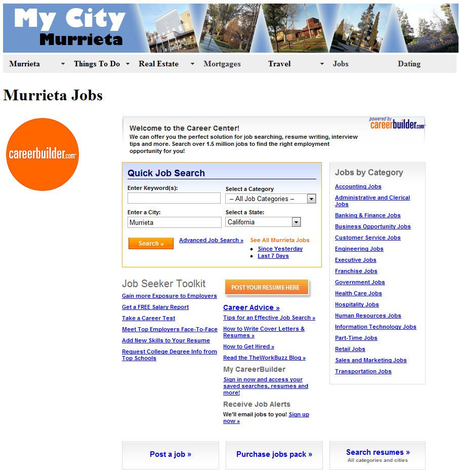 Find jobs in the murrieta ca area sunny california pinterest find jobs in the murrieta ca area ccuart Images