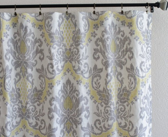 Pair Of 25 Waverly Bedazzle Silver Curtain Panels Drapes Grey