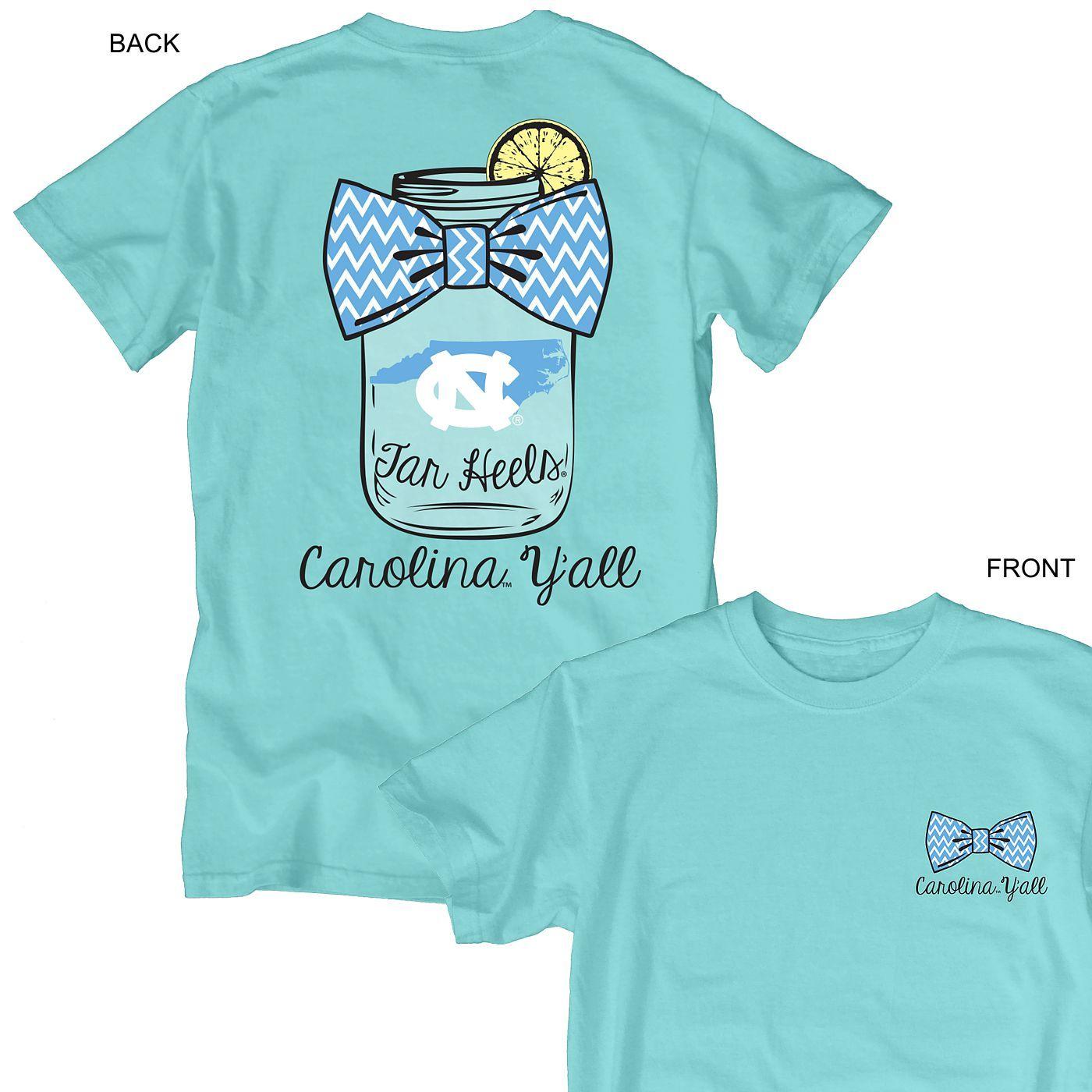 Carolina Y All T Caribbean Blue Unc T Shirts Tar Heels Clothes