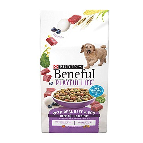 Purina Beneful Playful Life With Real Beef  Egg Dry Dog Food  35 lb Bag Pack of 2 ** To view further for this item, visit the image link.