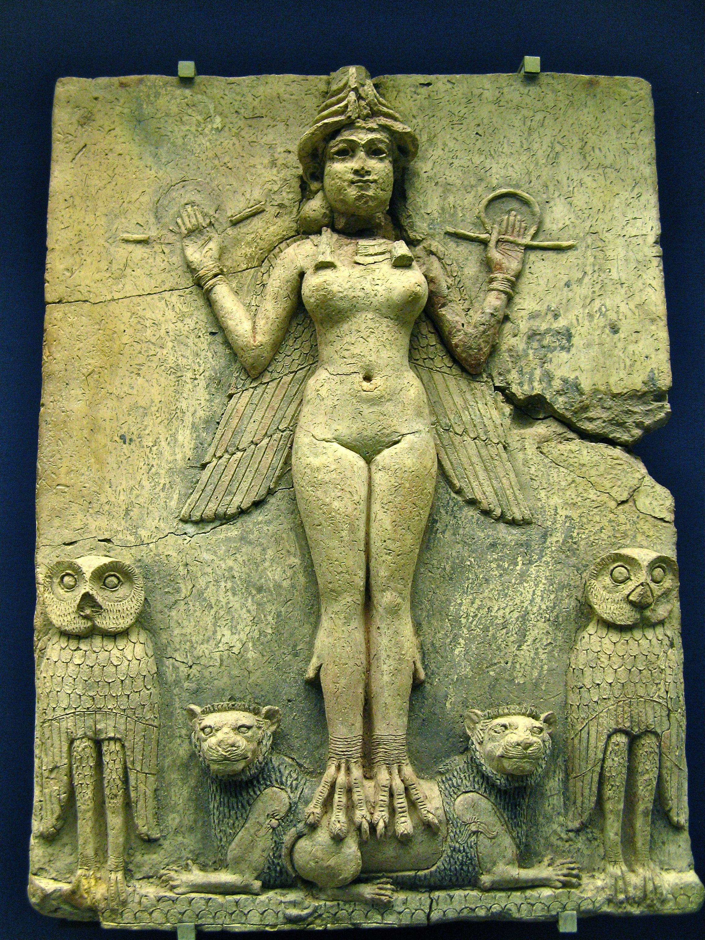 Inanna/Ishtar Summerian/Babylonian goddess of love and war.