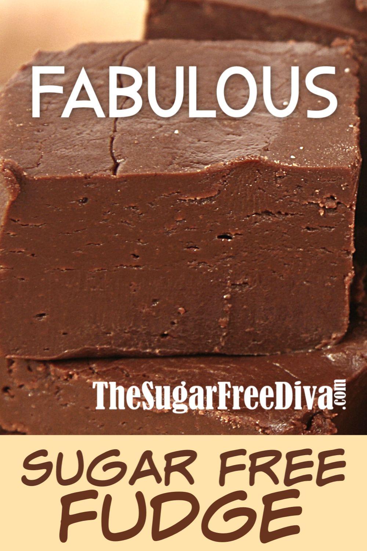 So FABULOUS! Sugar Free Fudge! Wow! So Fabulous too! Sugar Free Fudge from  This delicious recipe will make everyone smile :)