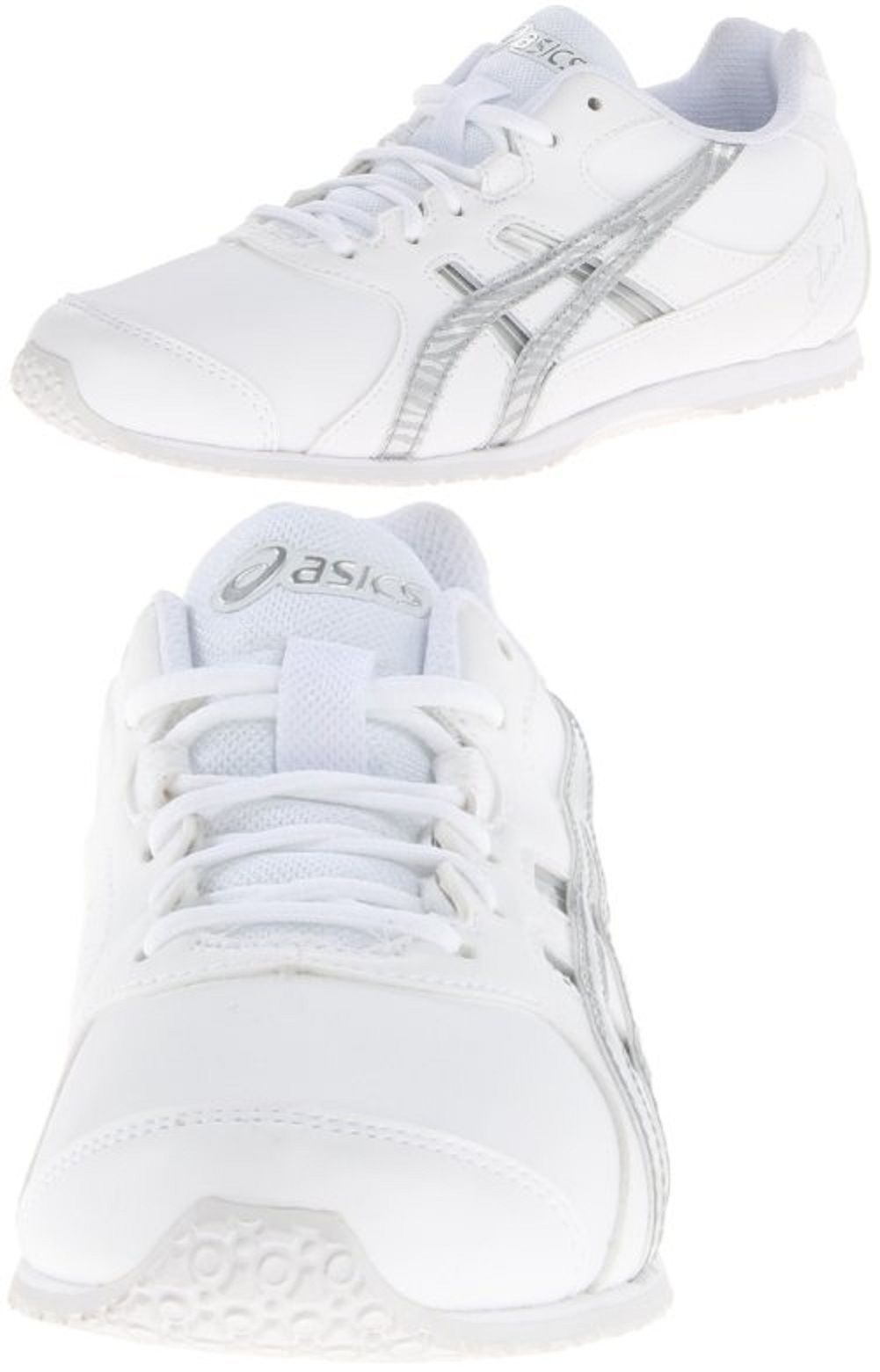 75e32d9b9e28 Unisex Shoes 155202  New Asics Cheer 7 Gs Cheerleading Shoe White And  Silver Kids Size K12 -  BUY IT NOW ONLY   40.5 on eBay!