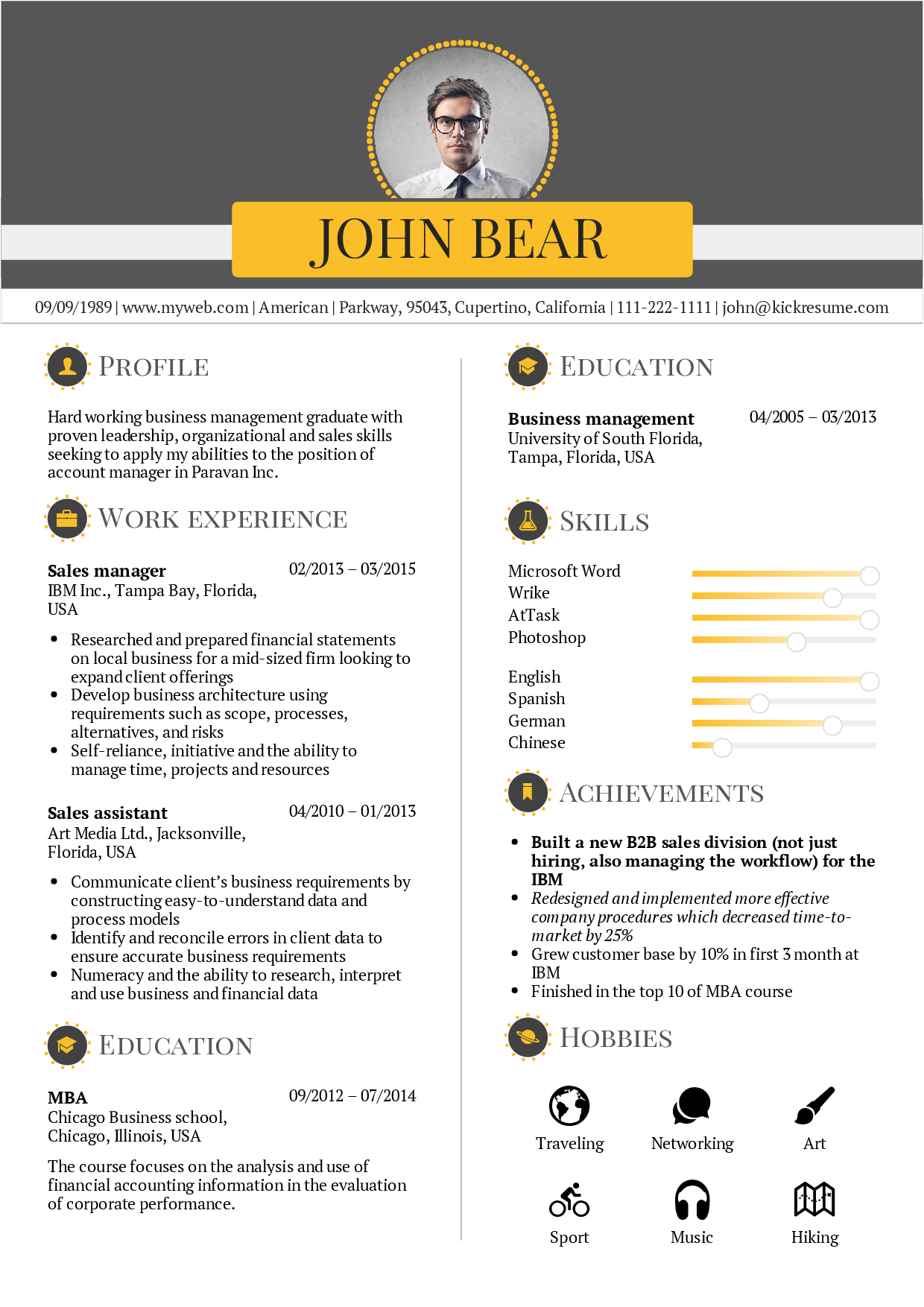 preview Perfect resume, Resume, Cover letter template