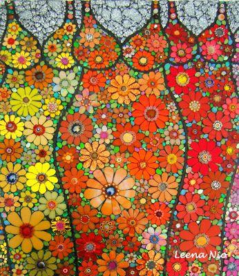 MOSAIIKKI  LEENA NIO - MOSAIQUE MAGIQUE: Flower princesses