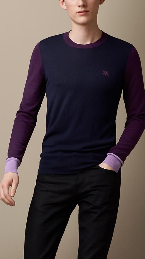 Colour Block Cashmere Sweater | Burberry