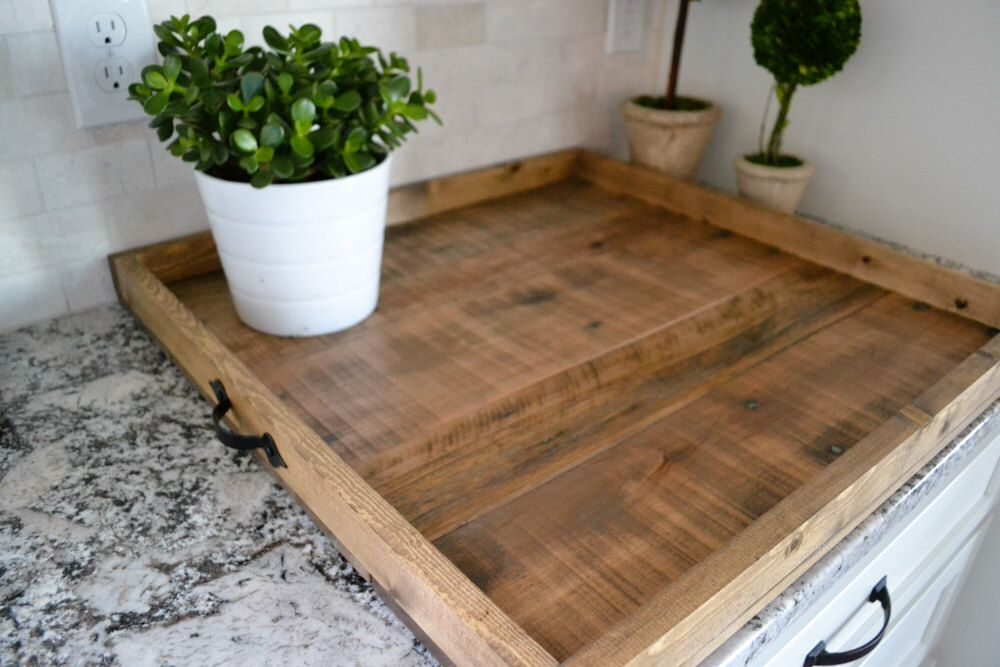 Xlg 24x24 Ottoman Tray Reclaimed Wood Coffee Table Large