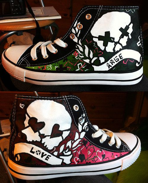 0c1b021a4d99 Hand Painted Green Day Rage and Love Converse by RahulMistry.. I must have  them.