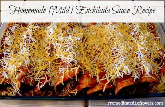 A fast and easy recipe for red enchilada sauce. This recipe creates a mild enchilada sauce.