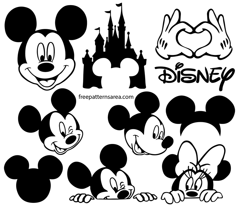 Mickey Mouse Silhouette Vector Images Mickey mouse