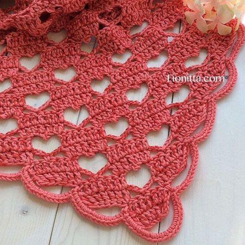 Lacy Shawl – Crochet [Free Tutorial | Häkeln, Tücher und Schals