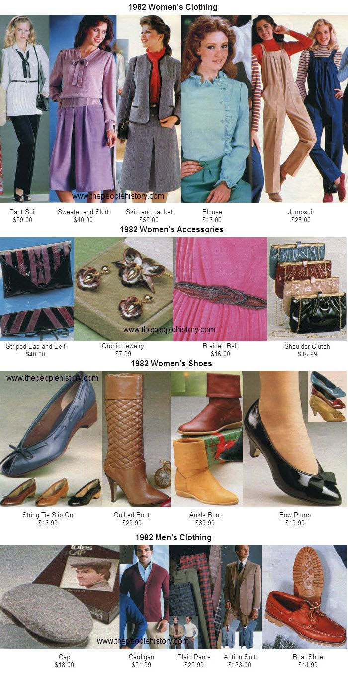 Fashion Clothing From 1982 other 1982 facts   Fashion