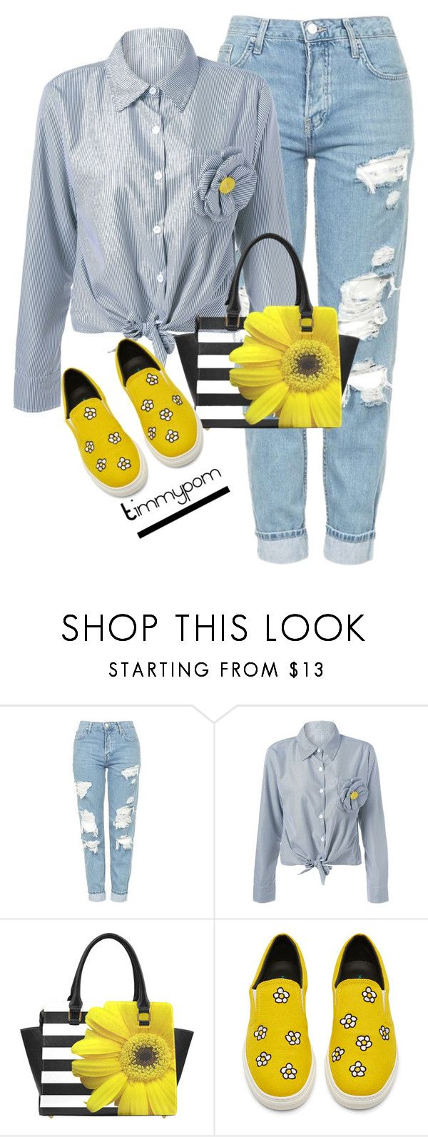 """Weekend style...."" by timmypom ❤ liked on Polyvore featuring Topshop, casual, floral, jeans, shirt and sneakers"