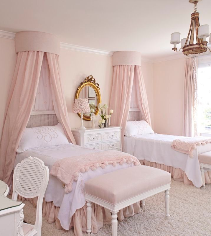 Overhead Wall Mounted Canopy French Bedroom Design Chic Bedroom