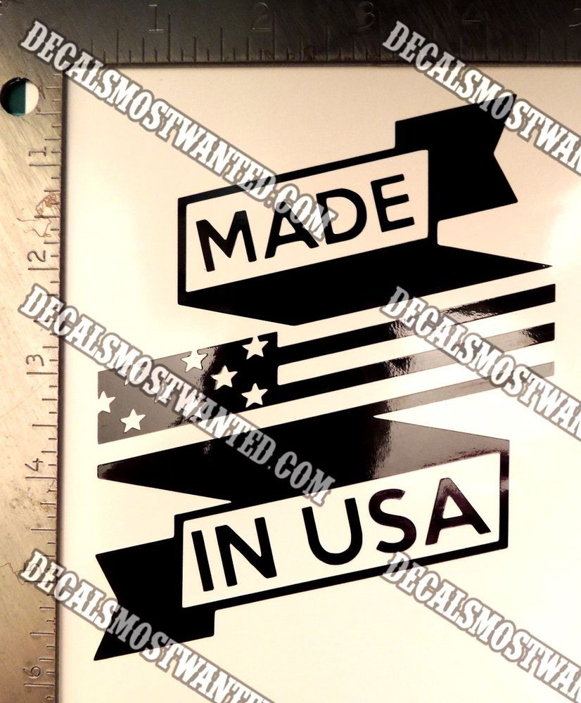 MADE IN USA Flag Ribbon Pride Decal Sticker Die Cut Vinyl Car - Die cut vinyl decal stickers
