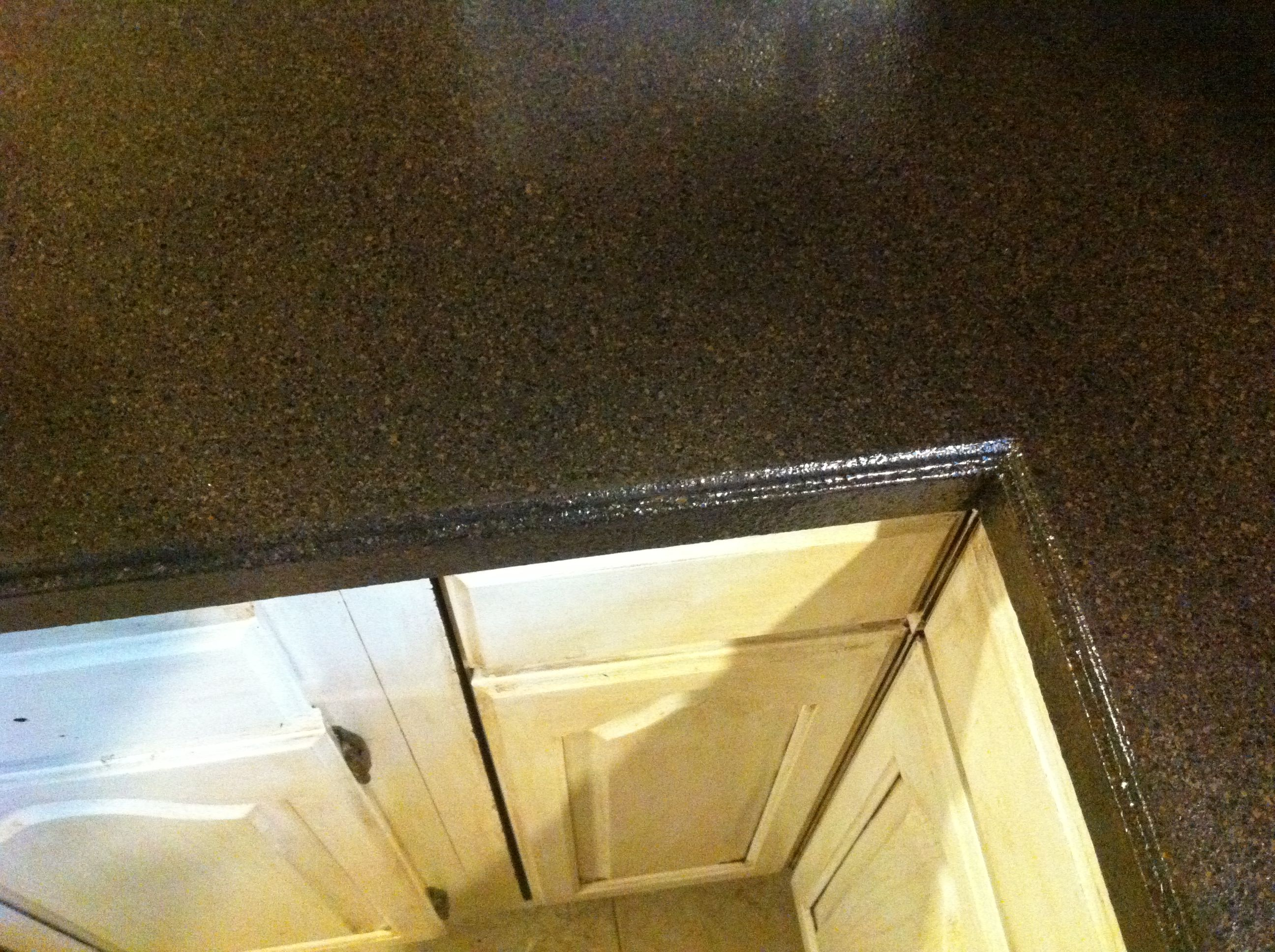 Counter Transformation Done With Rust Oleum Countertop Transformations Kit In Java Stone Much Better