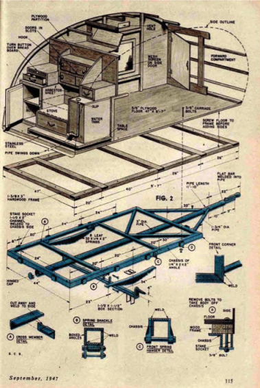 Building plans for 1947 teardrop trailer teardrop trailer camping 1947 teardrop blueprint teardrop trailer plansteardrop malvernweather Gallery