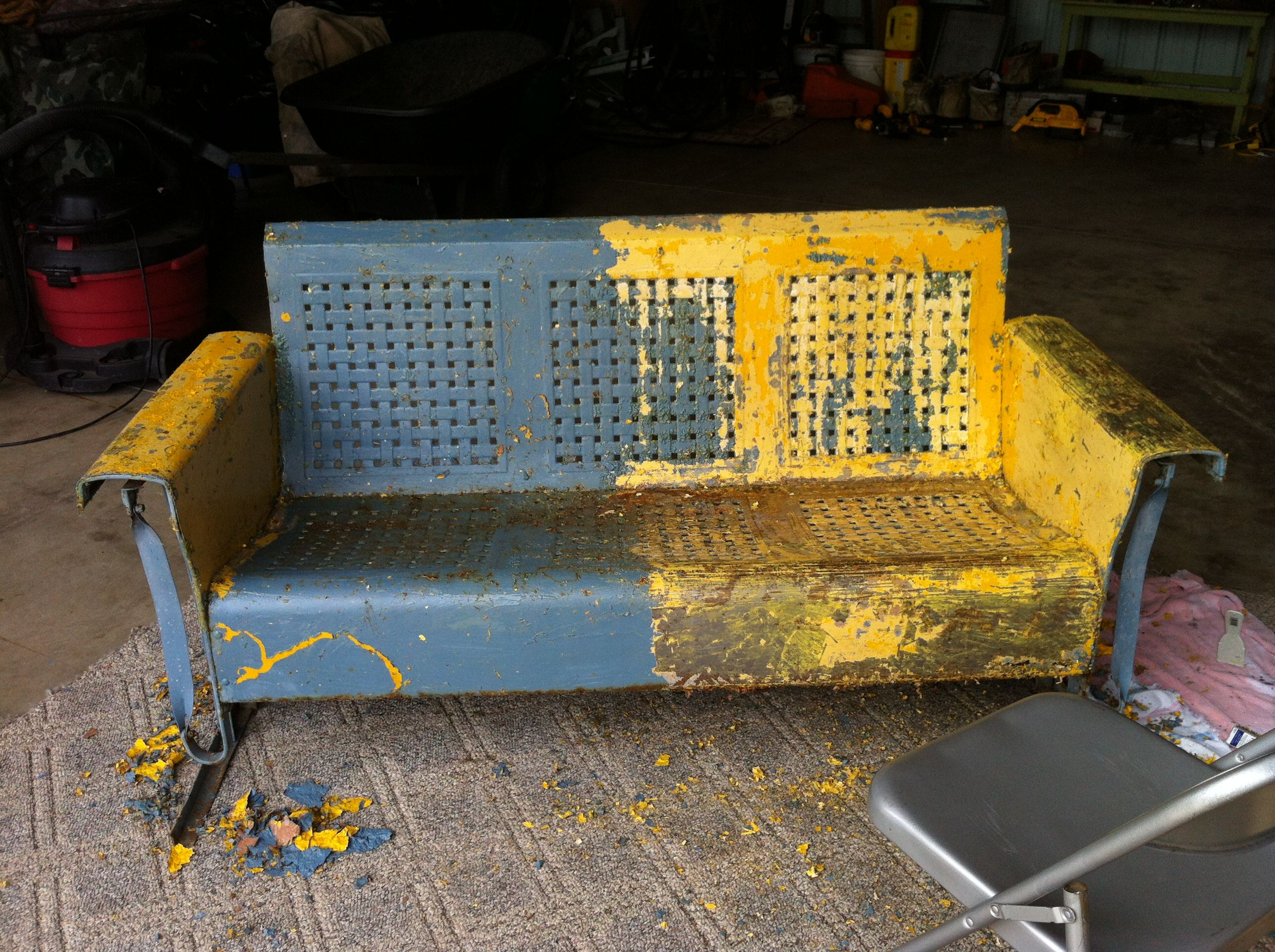 Restoring Metal Glider Furniture Restoration In 2019