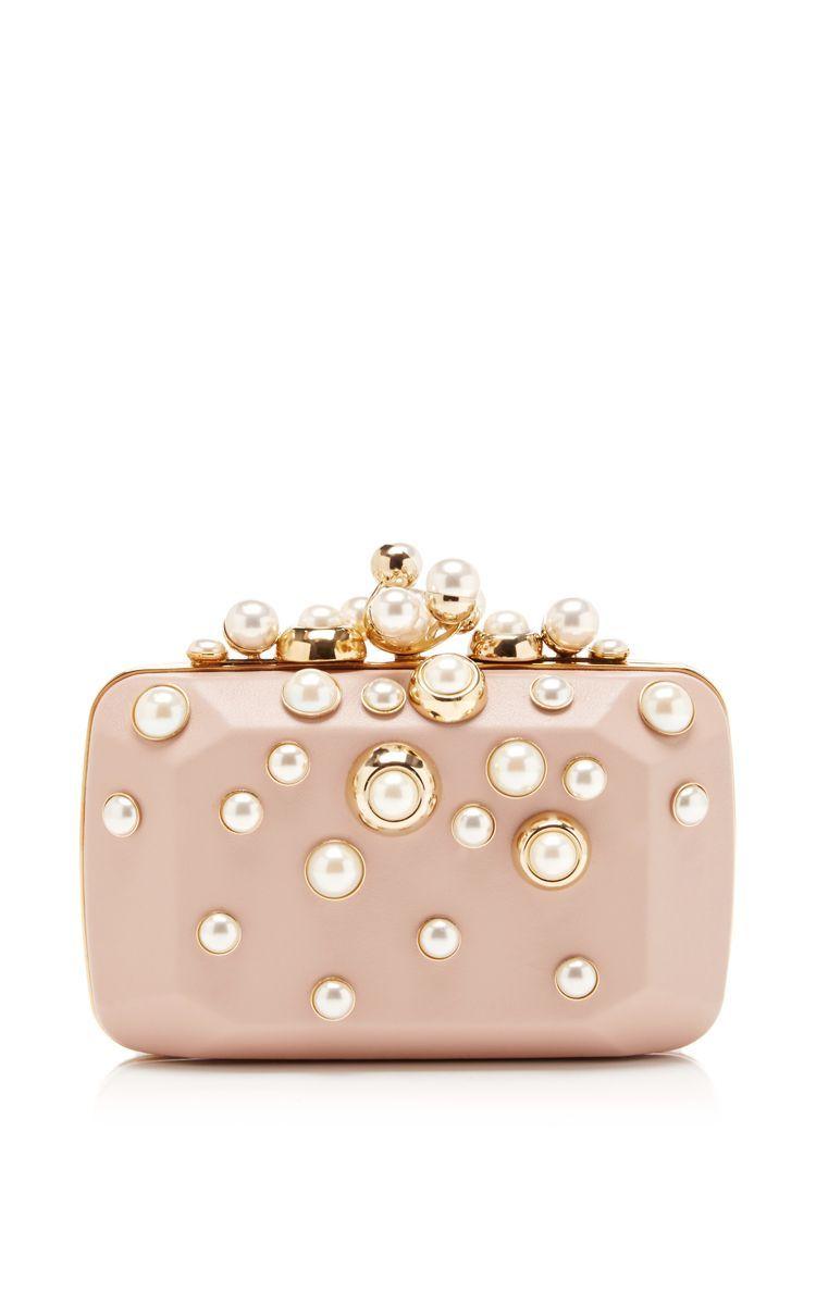 Small Pearl Embellished Clutch by Elie Saab for Preorder on Moda Operandi   pearlclutchbag 794707b39cf86